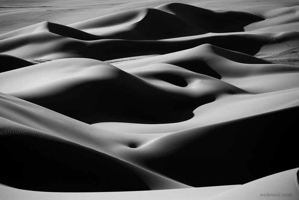 desert curves black and white photography by ivan slosar