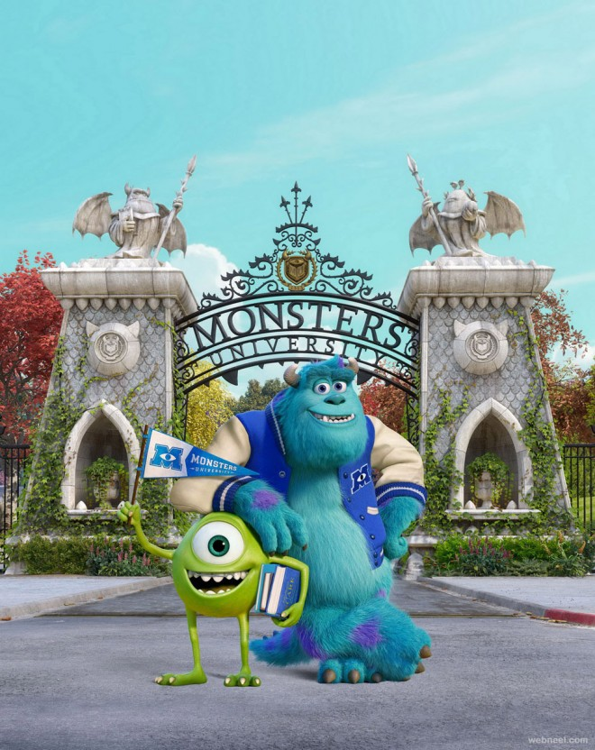 monsters university animation movie wallpaper