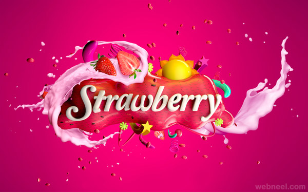 strawberry milk omar aqil typography design