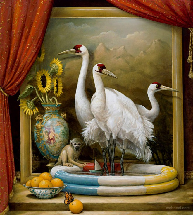 surreal painting by kevin sloan