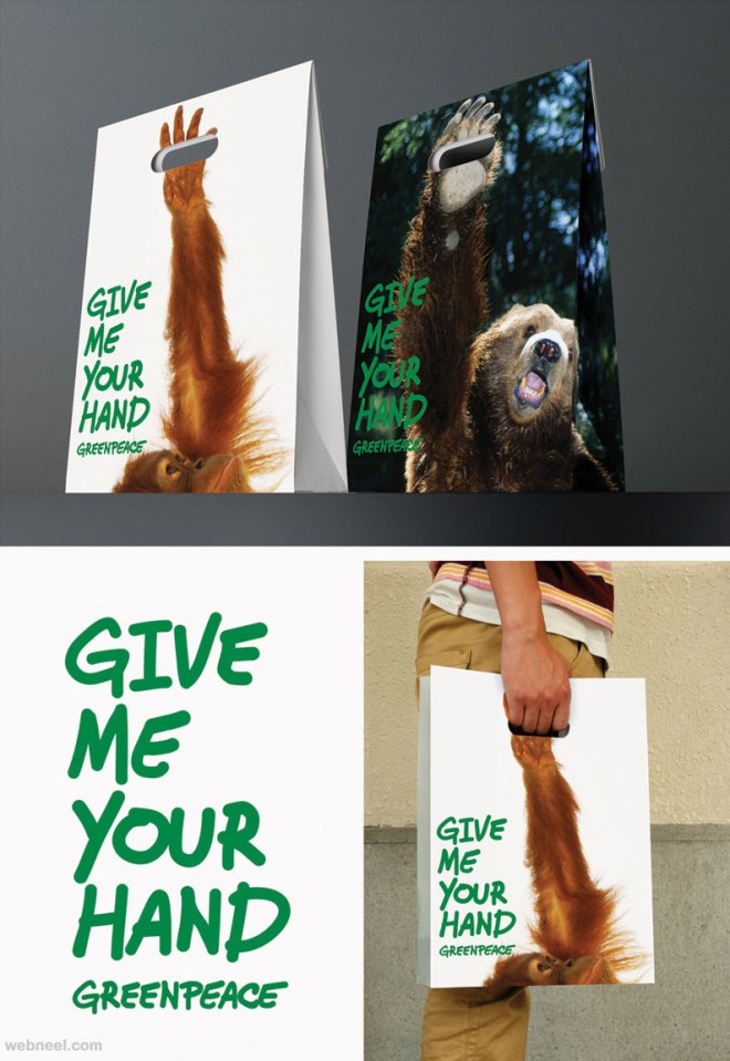 creative bag ad animals