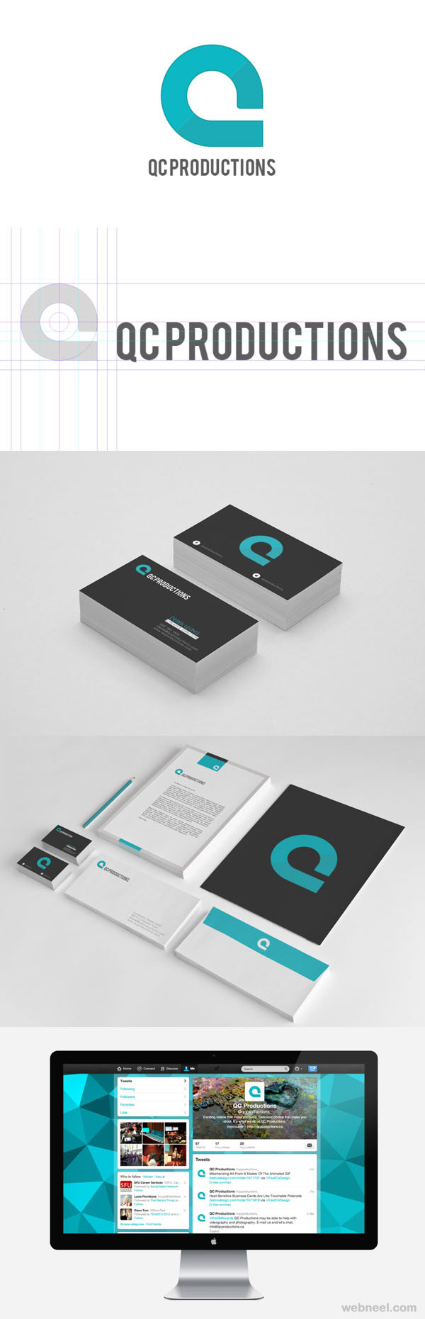 qcproduction branding identity design