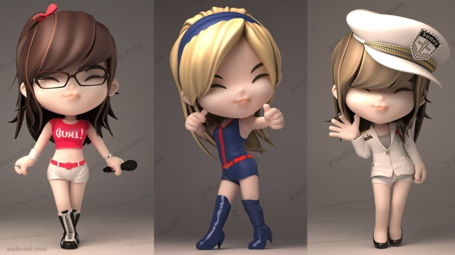 3d cartoon girls yuchirian