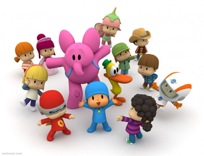 3d cartoon pocoyo