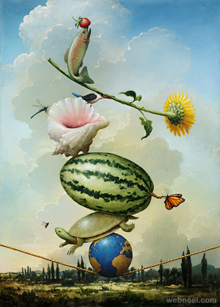 22 creative american surreal paintings by kevin sloan