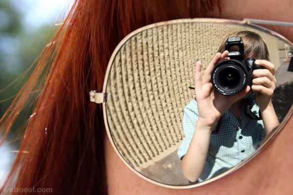 sun glass reflection photography