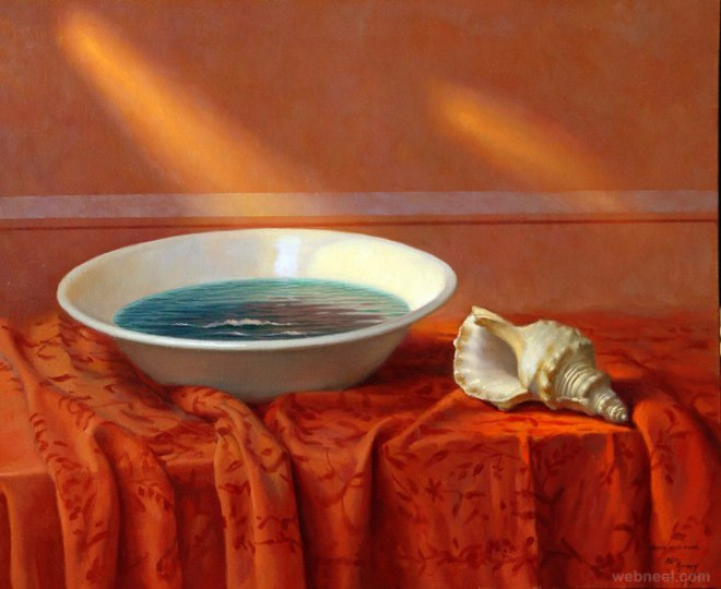surreal still life painting by alex alemany