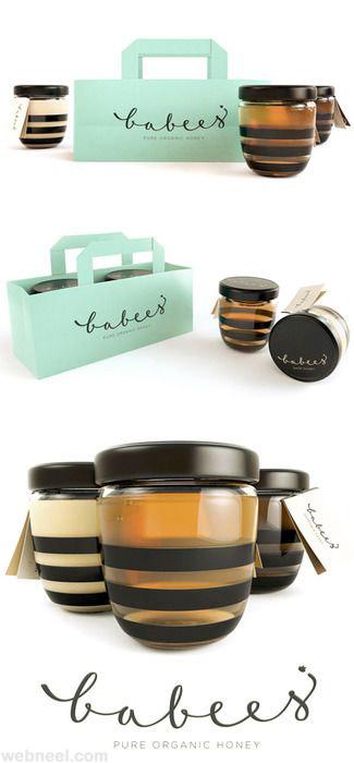 honey bottle packaging design