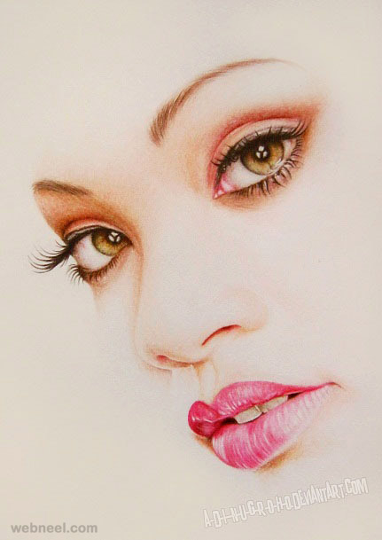 realistic photo realistic color pencil drawing by adinugroho