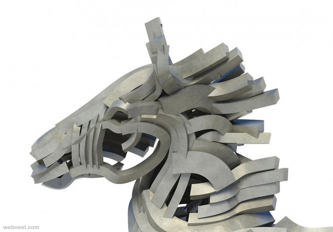 st george dragon steel scultpure by gil bruvel
