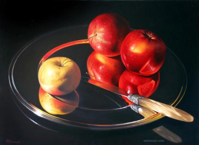 fruits still life painting by dmitriy annenkov