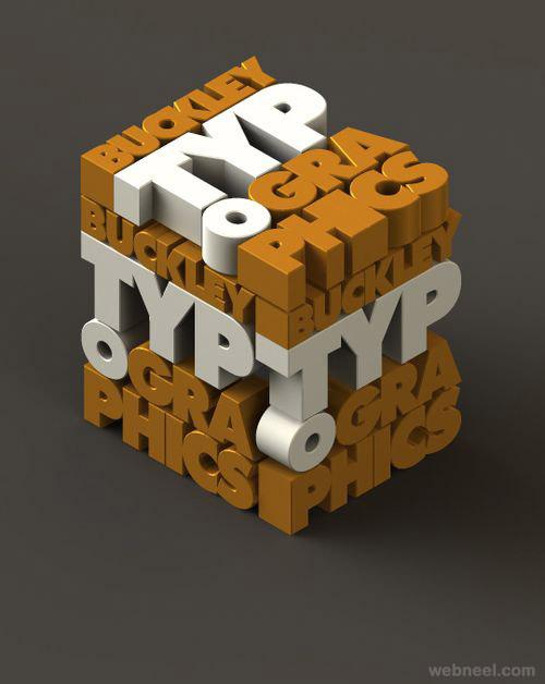 best 3d typography design