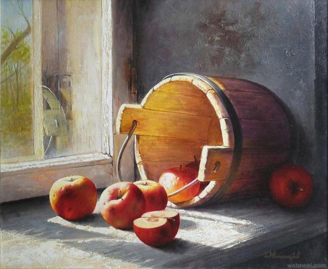 fruitst still life painting by dmitriy annenkov