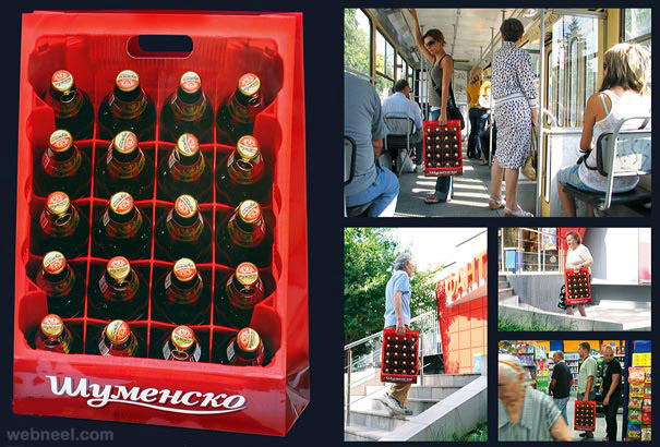 creative bag ad bottles