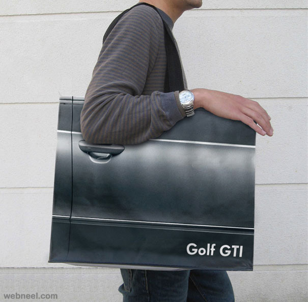 creative bag ad car