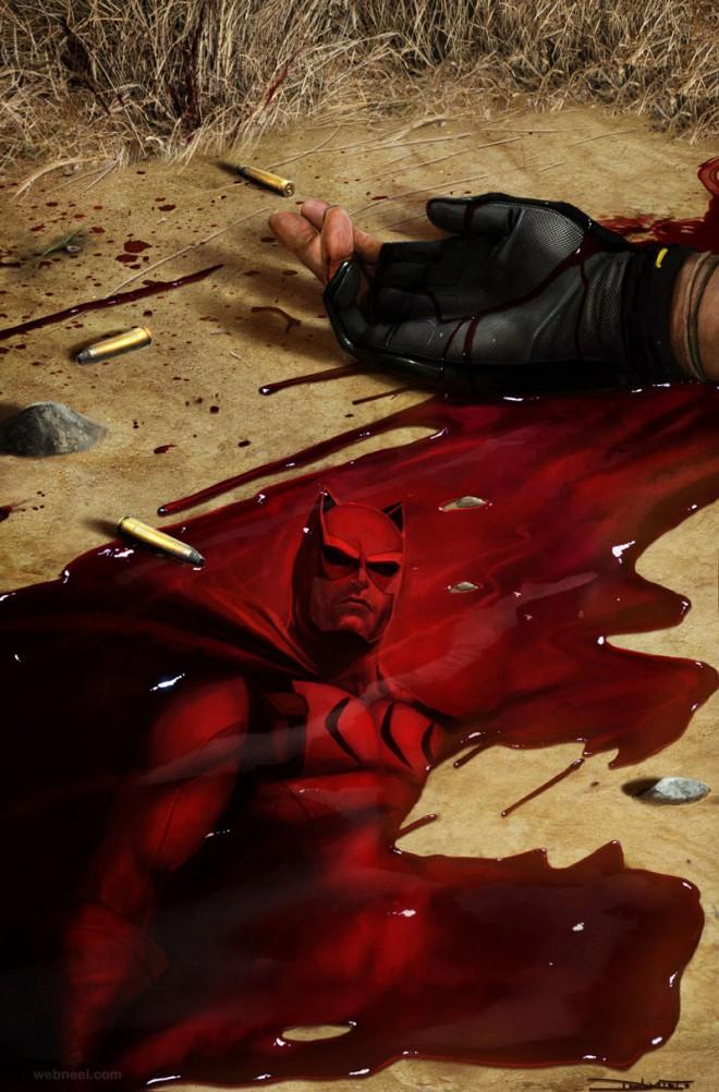 bat man digital art by dan luvisi