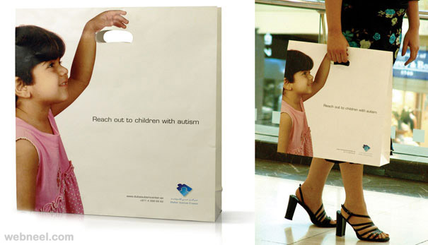 creative bag ad kid