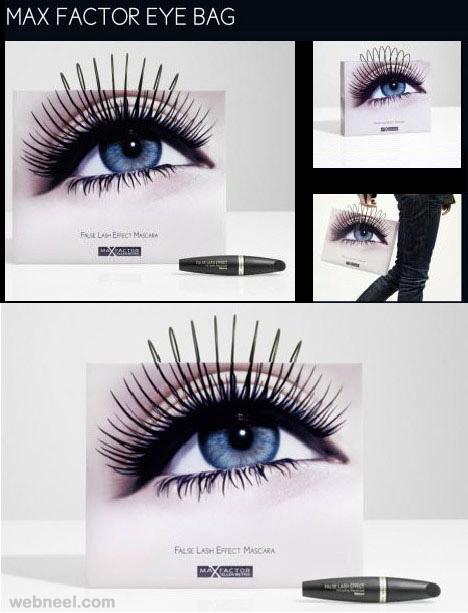 bag ad eye lash creative