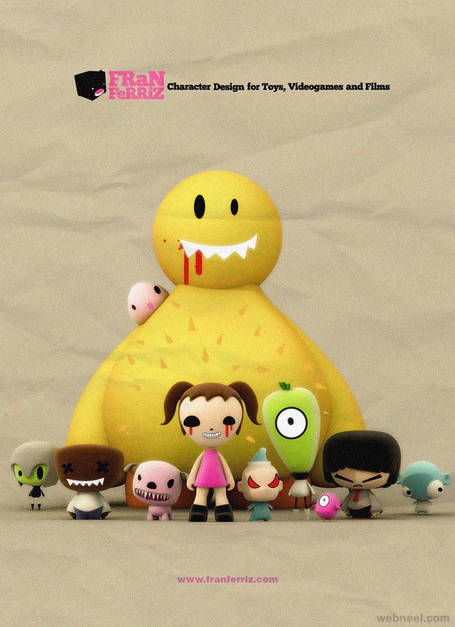 3d character family fran ferriz