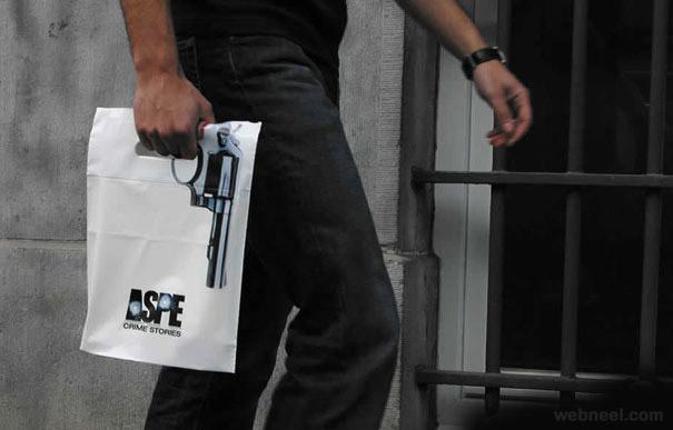 creative bag ad gun