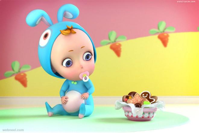 3d baby cartoon yinxuan