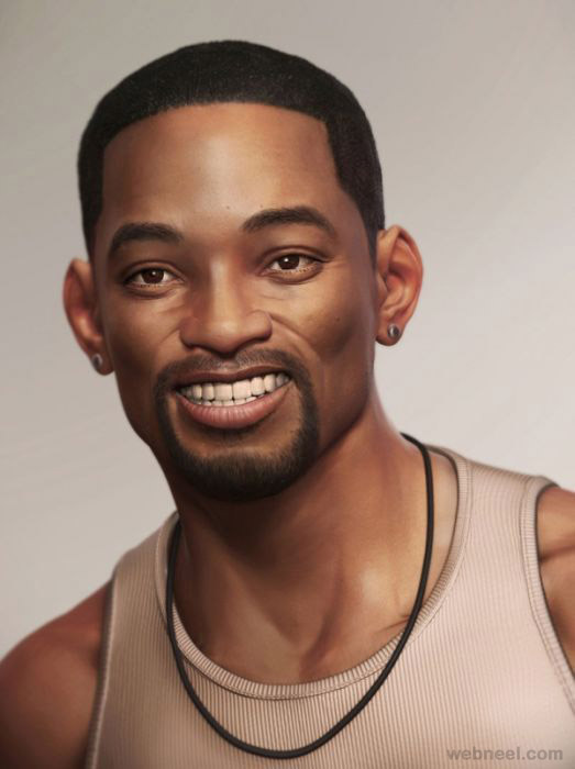 will smith 3d celebrity character design
