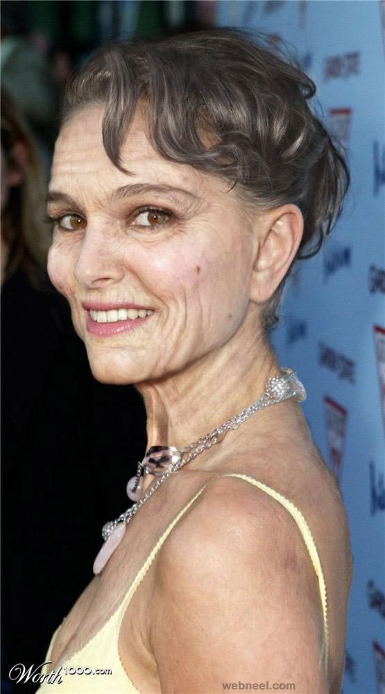woman aging photo manipulation