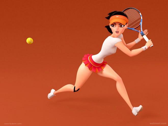 3d cartoon tennis yinxuan