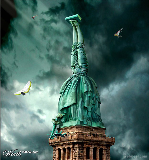 statue liberty photo manipulation
