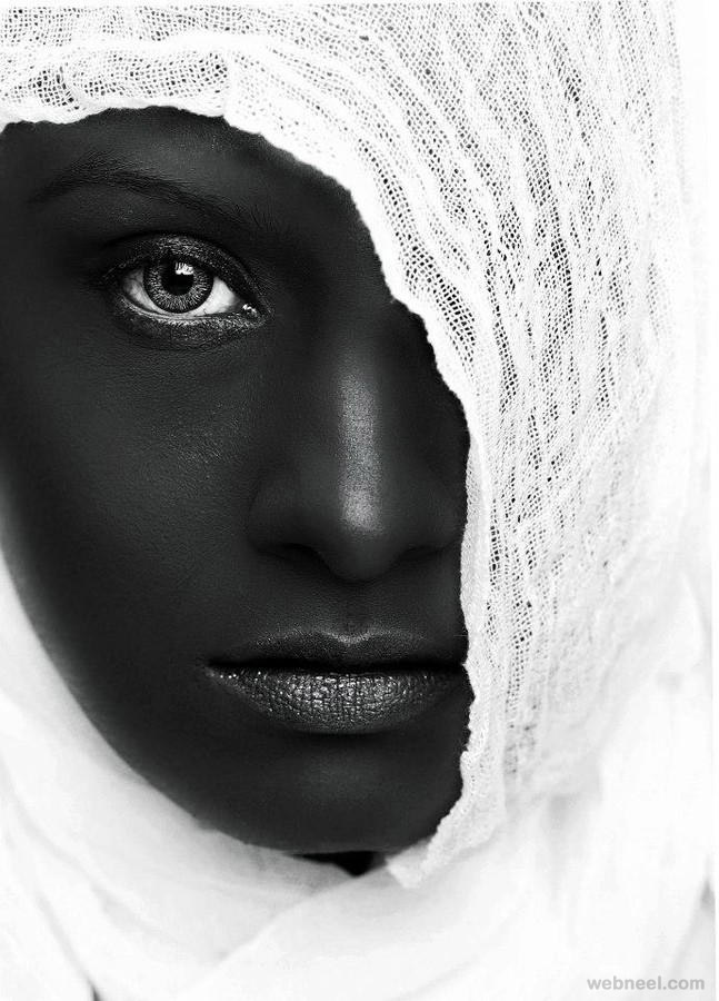woman black and white photography by naeem akram