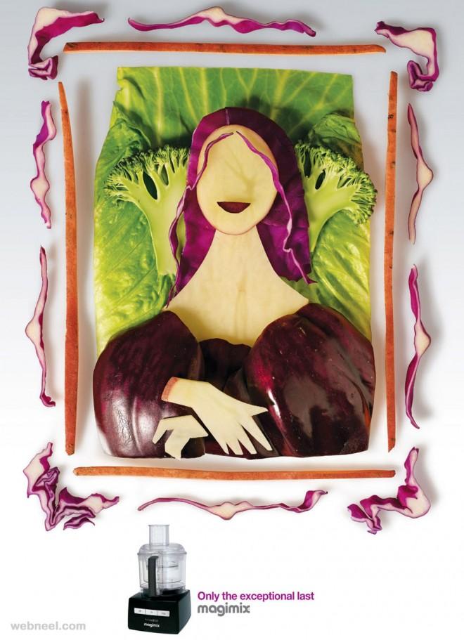 best ads vegetable art