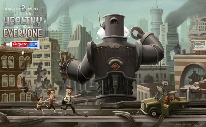 best ads brushing colgate robot