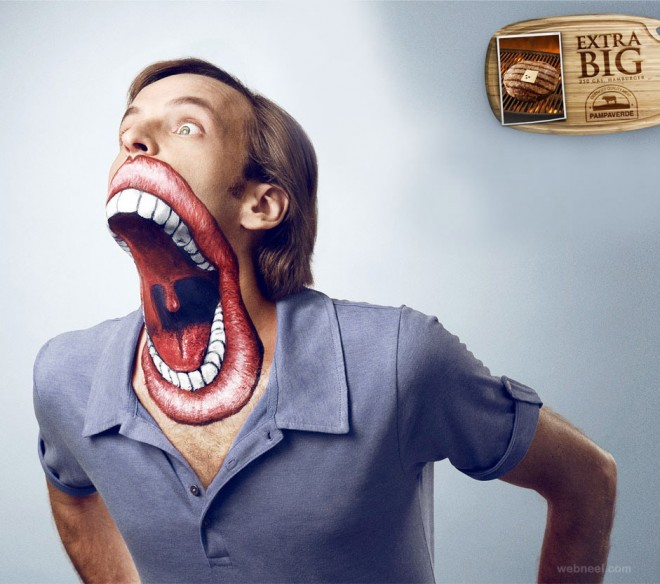 creative advertising face paint