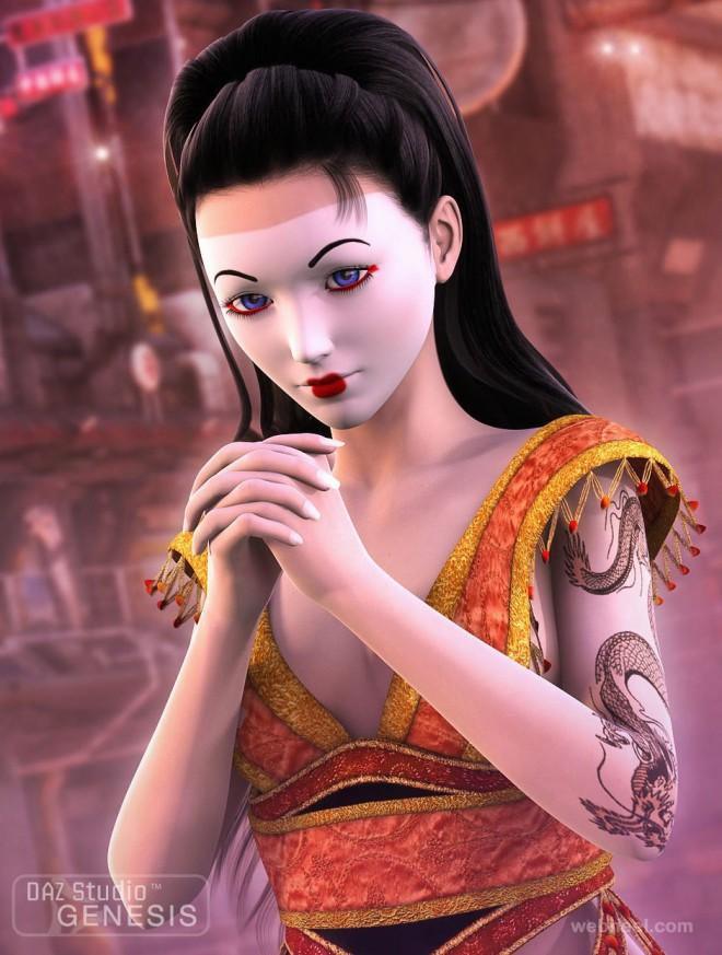 fantasy character model 3d
