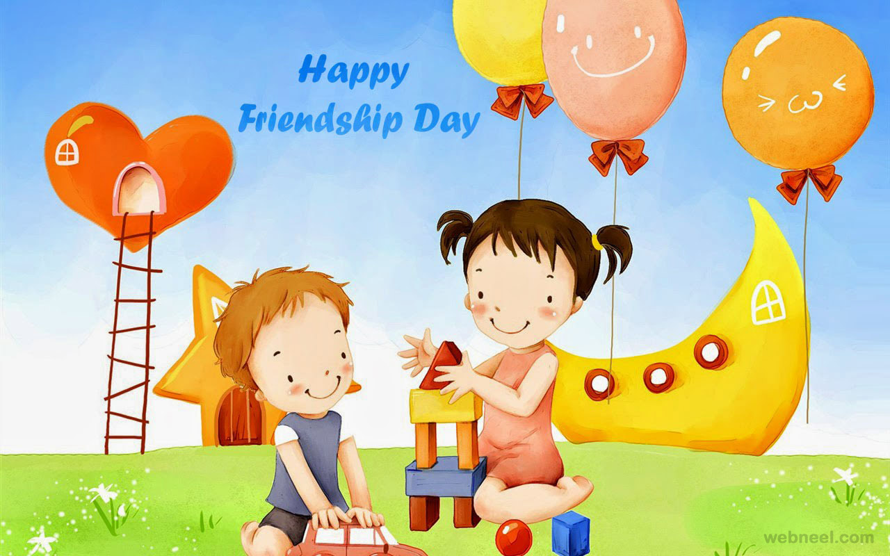 happy friendship day greetings wallpaper