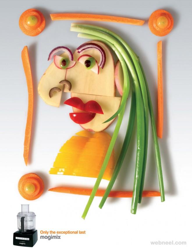 best ads vegetable art magimix