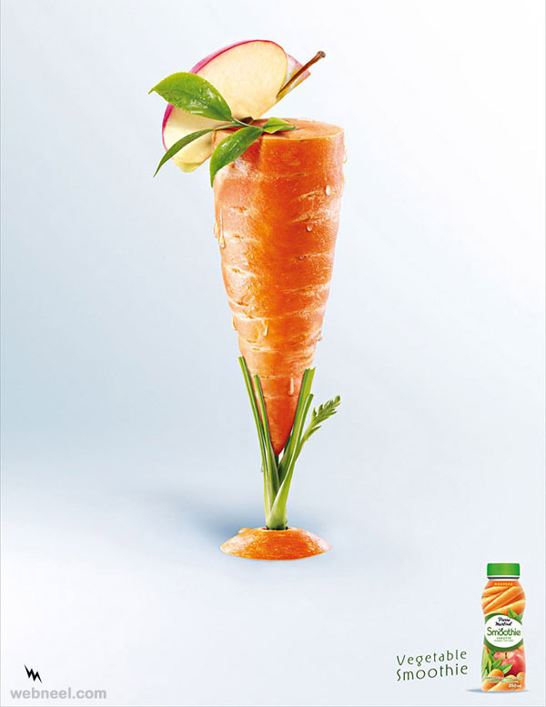creative ad vegetable carrot