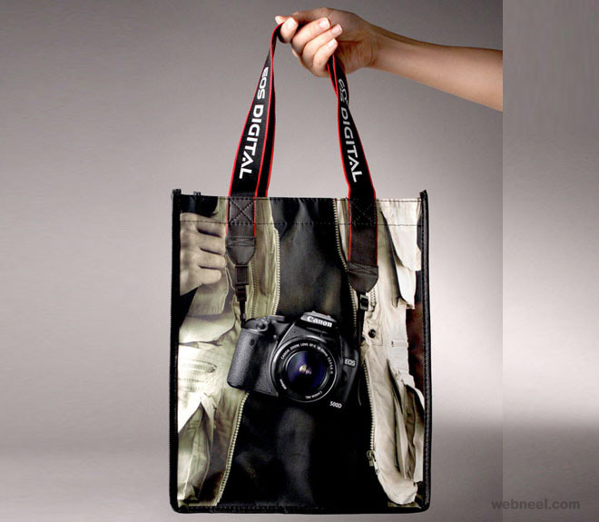 bag ad camera shopping