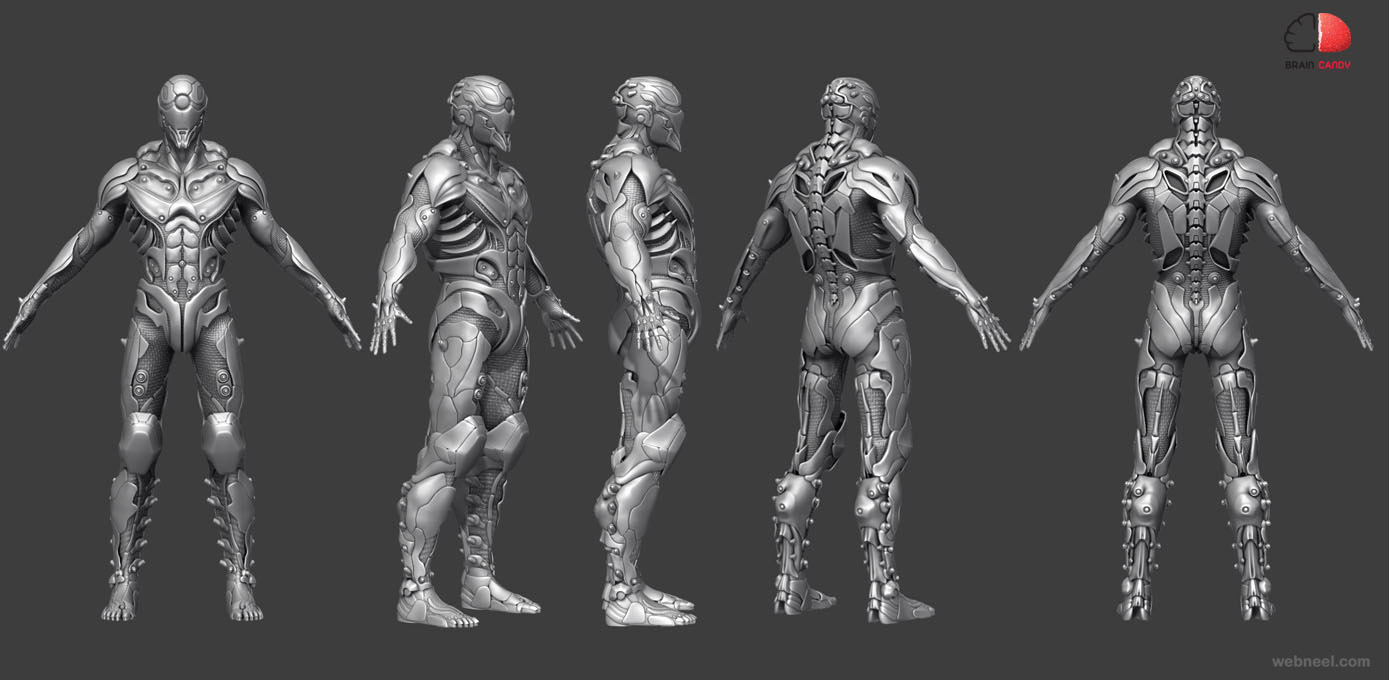 3d man monster fighter model