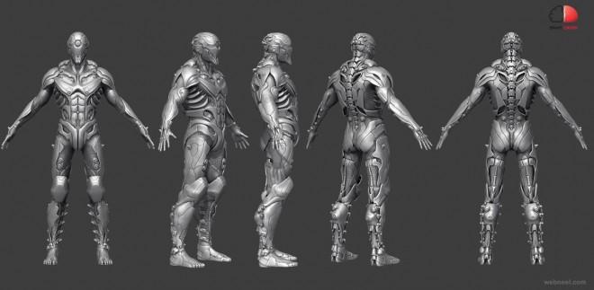 3d man monster fighter model