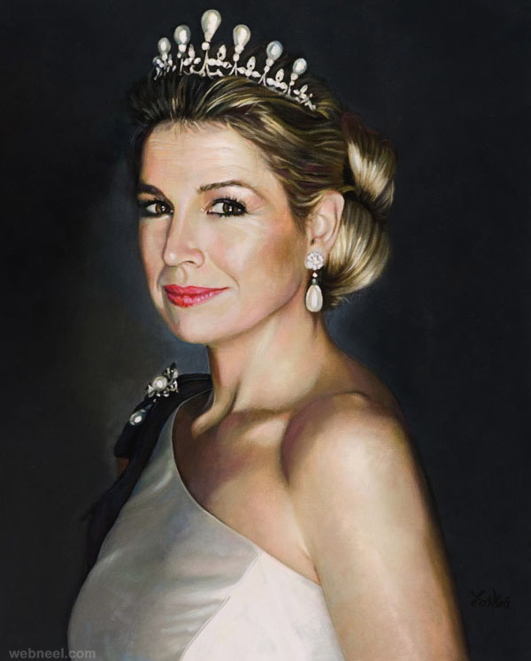 princess queen painting by tos kostermans