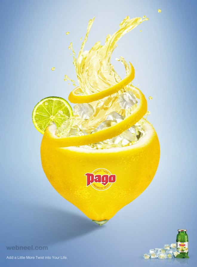 creative advertising fruit lemon