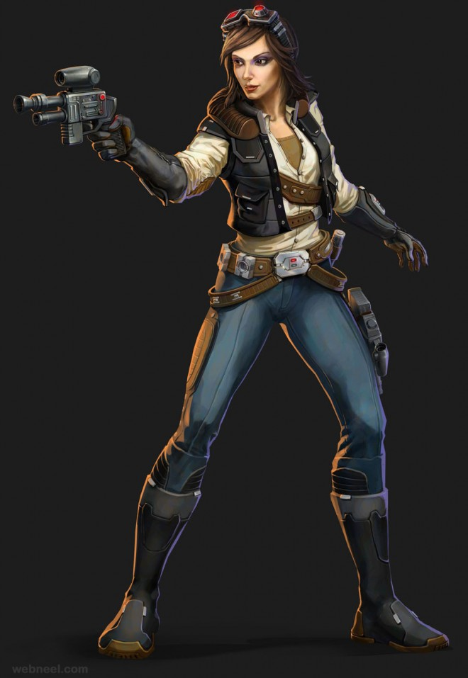 star war game character 3d