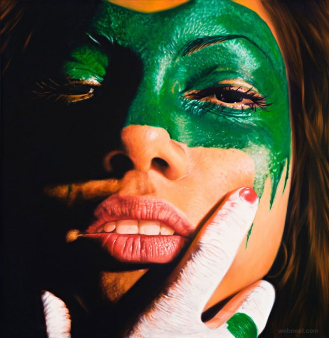 face paint oil paintings by jkb