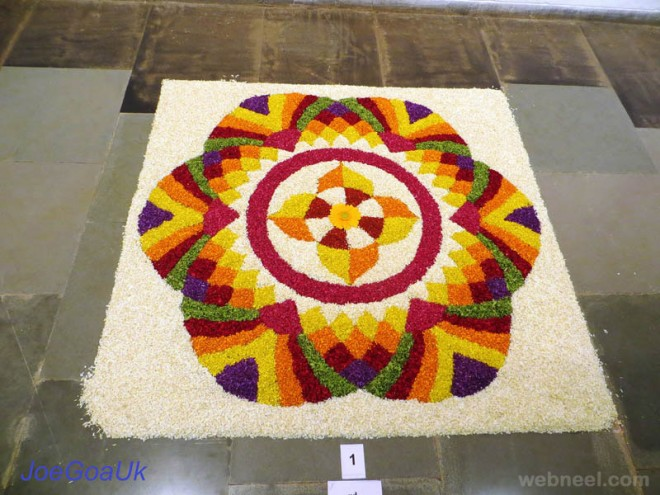 pookalam beautiful onam