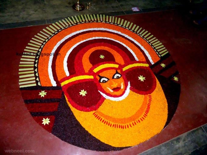 pookalam ritual art onam