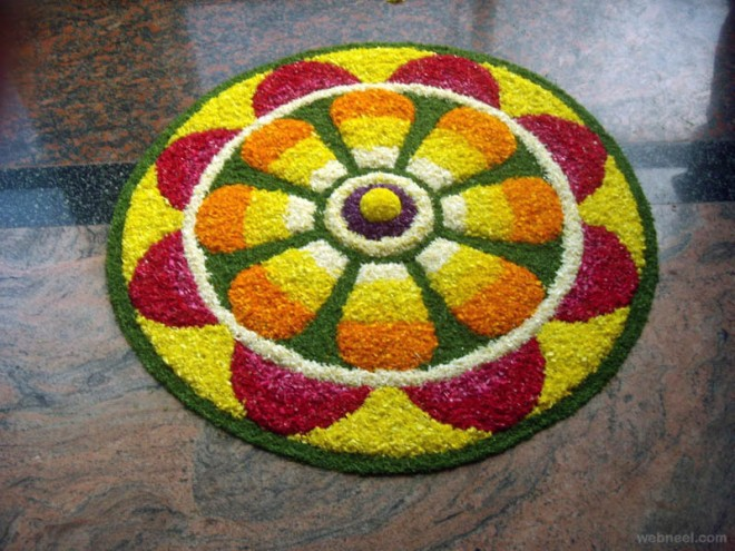 pookalam sunflower onam