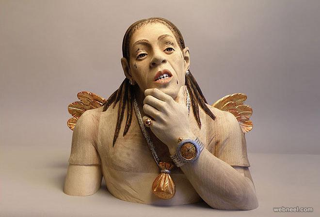 wood sculpture by giuseppe rumerio