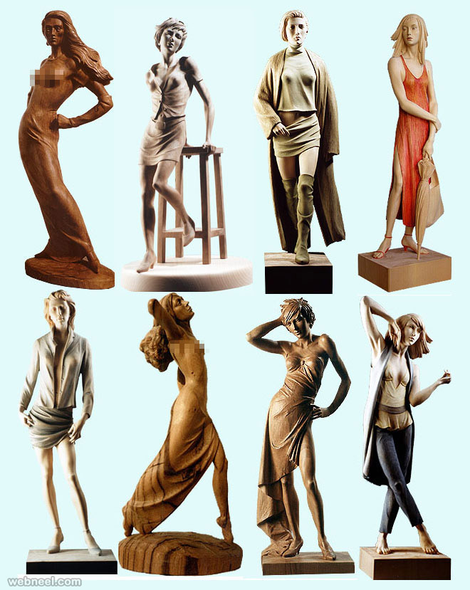 wood sculpture by giuseppe rumeriogirls