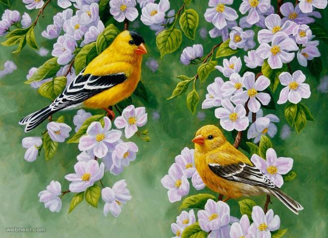 bird art by crista forest
